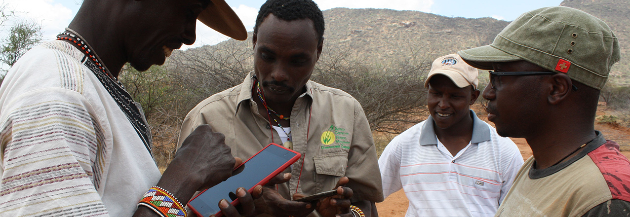 Training rangeland managers in Northern Kenya to use the LandPKS apps.